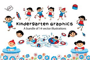 Kindergarten Vector Graphics Pack