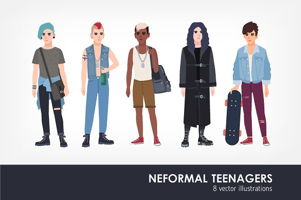 Informal teenagers set