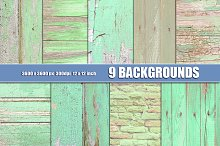 Green painted wood wall texture