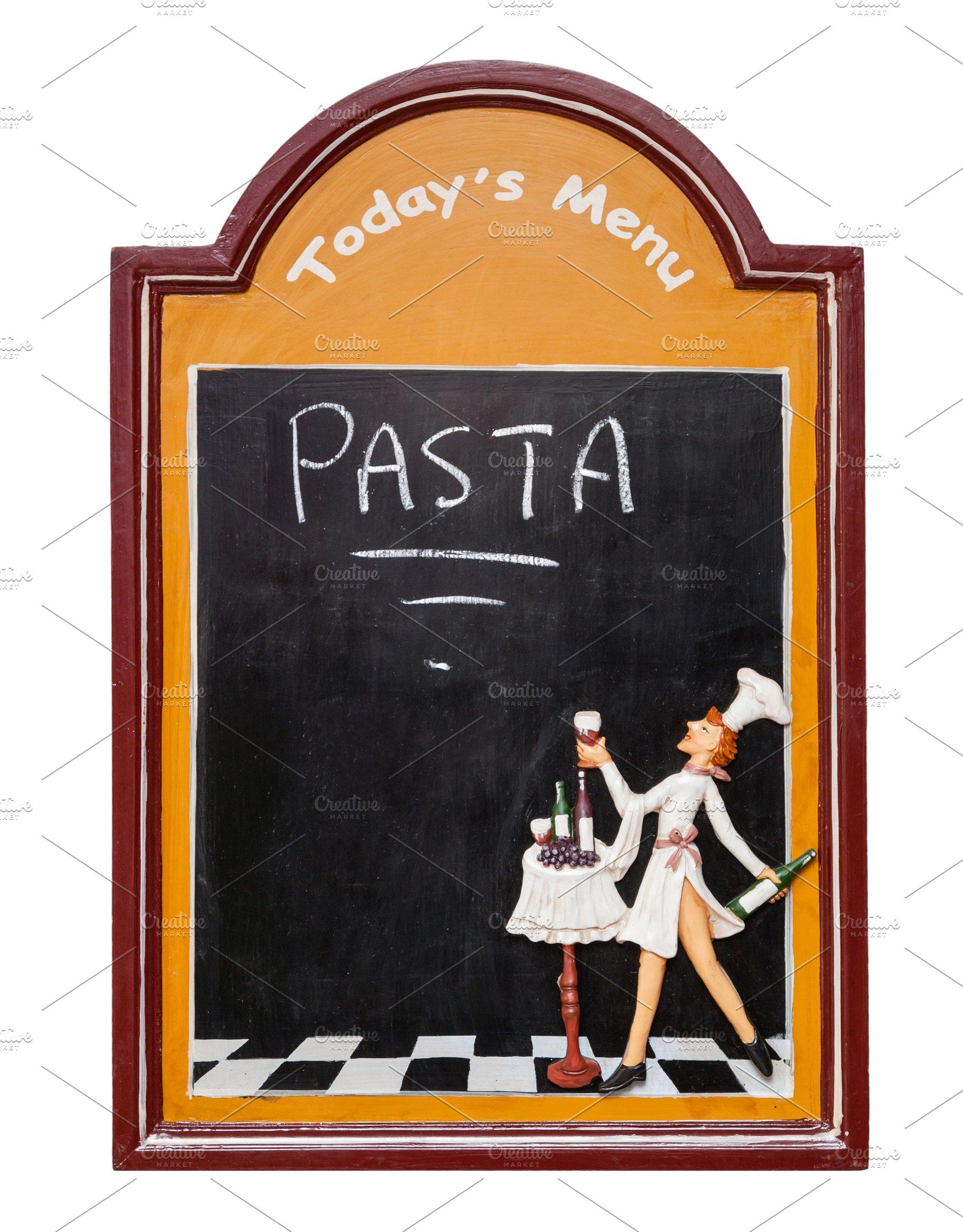Blackboard for menu restaurant cafe