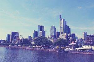 Skyline Frankfurt Skyscraper Hessia