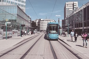 Tram in Frankfurt Germany