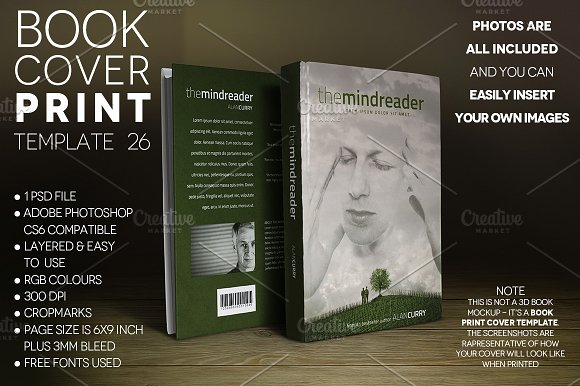 Book Cover PRINT Template 26