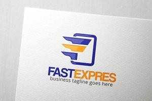 Fast Express Letter F Logo
