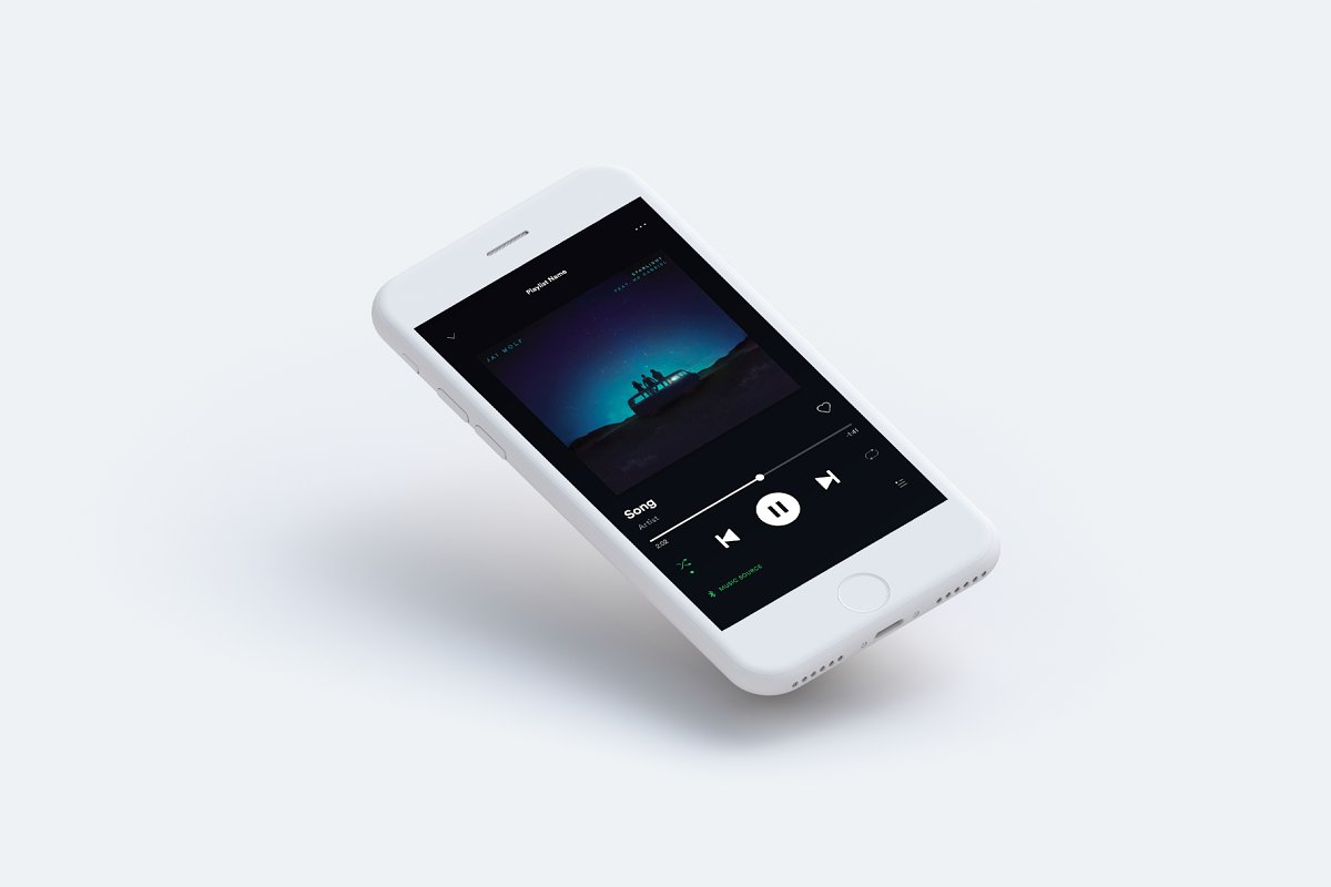 Spotify Player Template 2019