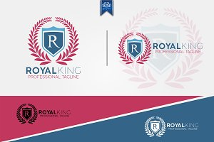 Royal King Vintage Letter R Logo