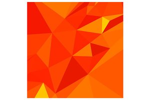Carrot Orange Abstract Low Polygon B