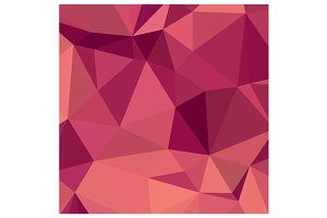 Deep Cerise Purple Abstract Low Poly