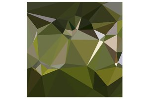 Hunter Green Abstract Low Polygon Ba