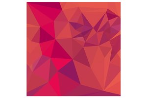 Jazzberry Jam Red Abstract Low Polyg