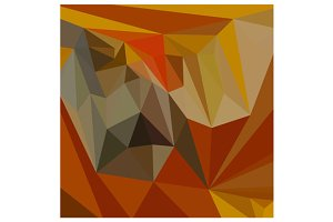 Mahogany Brown Abstract Low Polygon