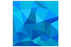 Moonstone Blue Abstract Low Polygon