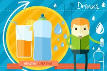Healthy Lifestyle Drinks Concept