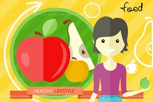 Healthy Lifestyle Foods Concept