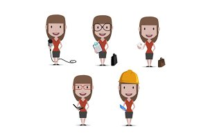 Woman in different jobs
