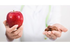 Nutritionist offering nutritious
