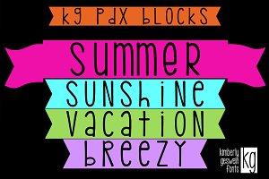 KG PDX Blocks Font