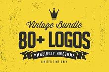 80+ Vintage Logo Templates Bundle