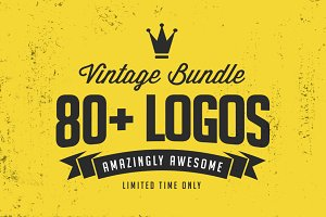 80+ Vintage Logo Templates Bundle
