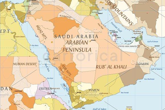 political world vector map illustrations creative market