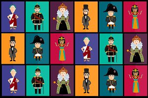 Vector pack of historical characters