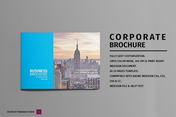 Landscape Corporate Brochure Brochure Templates Creative Market - Corporate brochure template