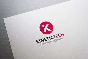 Kinetic Tech Letter K Logo