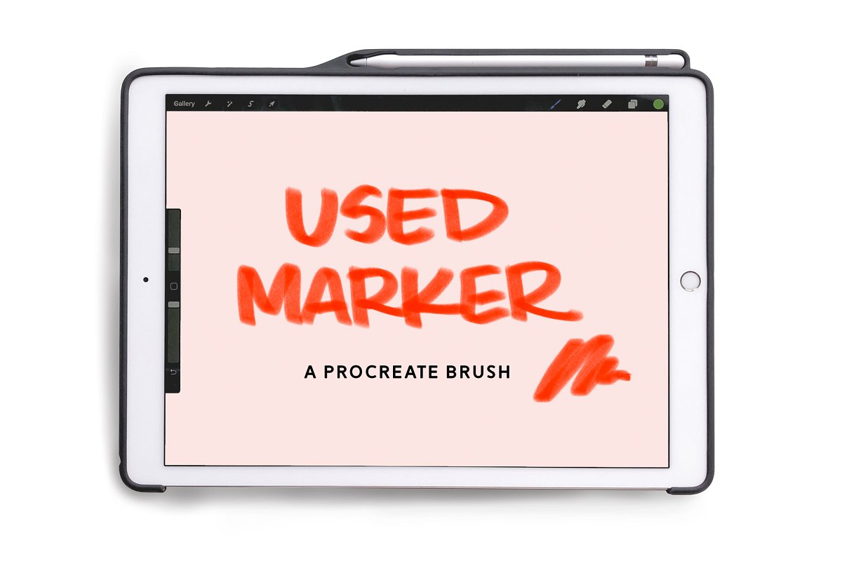 Textured Procreate Brush Used Marker in Add-Ons - product preview 8