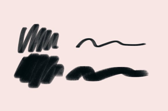 Textured Procreate Brush Used Marker in Add-Ons - product preview 1