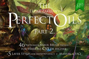 The Perfect Oils 2, 46 Mixer Brushes