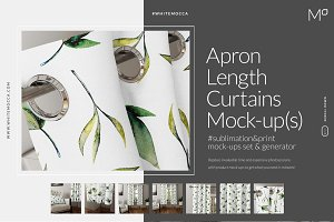 Apron Length Curtains Mock-ups Set