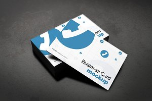 European Size Business Card Mockup