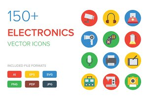 150+ Electronics Vector Icons
