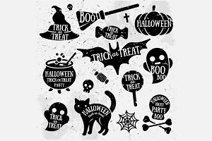 Halloween Retro Tags