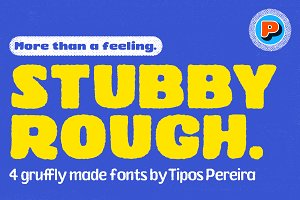 Stubby Rough Fonts