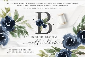 Indigo Bloom Watercolor Collection