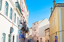Traditional Lisbon street, Portugal