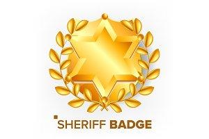 Sheriff Woody Badge Svg