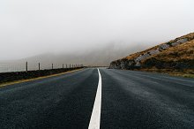 Misty Lonely Road in Ireland by  in Transportation