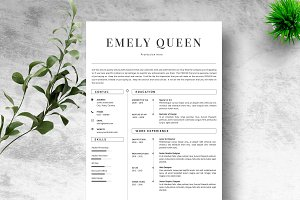 Resume Template 4 Page + References
