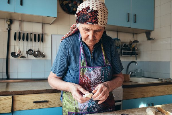People Images - Grandmother cooking