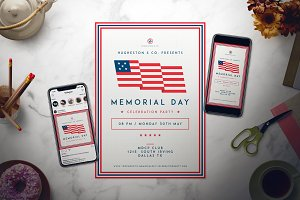 Labor Day Flyer & Memorial Day Flyer