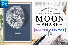 Lunar Phase Poster Creator by  in Plugins