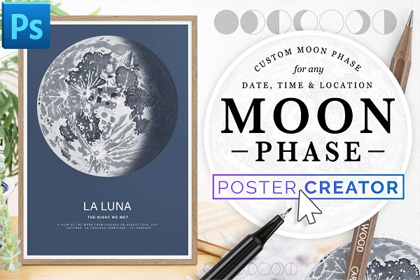 Photoshop Add-Ons - Lunar Phase Poster Creator