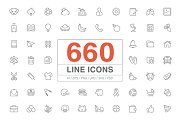 660 Line Icons pack