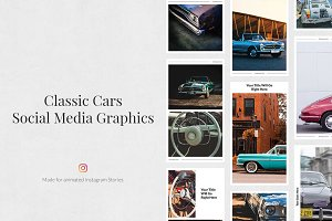Classic Cars Animated IG Stories