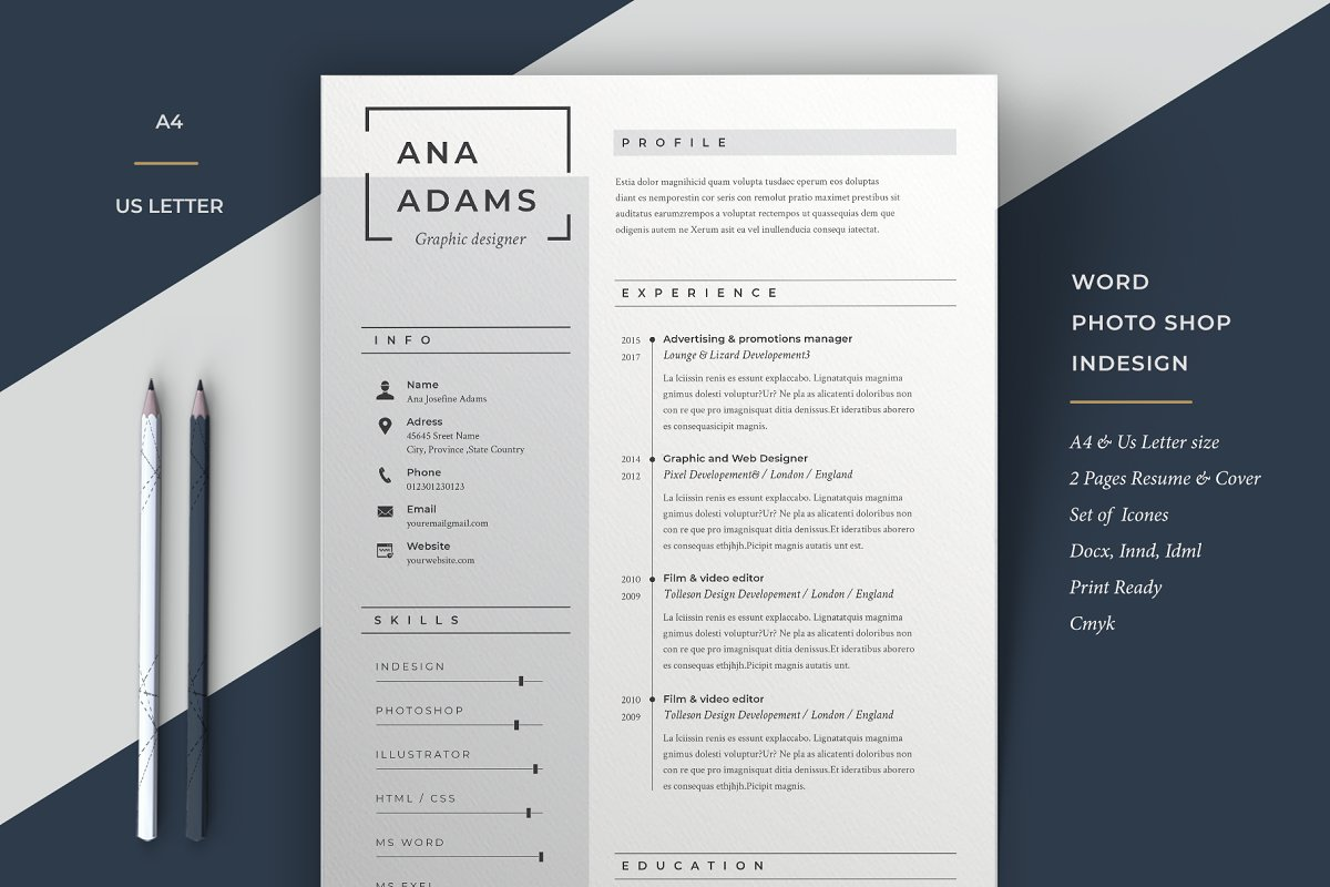 Resume Ana Resume Templates Creative Market