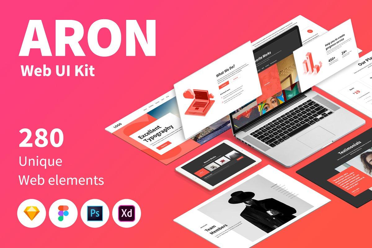 ARON Web UI Kit ~ UI Kits and Libraries ~ Creative Market
