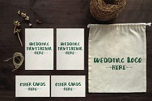 Simple Wedding Invitation Mockups