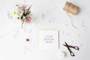 Stationery floral mock-up - Weddings